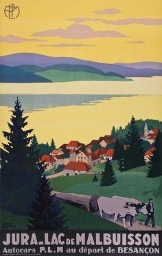 Vintage Jura France Tourism Poster Print A3//A4