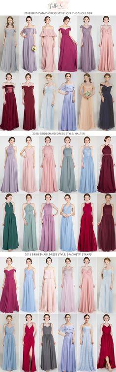 trending bridesmaid dresses styles for 2018 #wedding ideas #bridalparty #bridesmaiddress