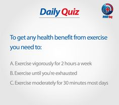 Win-Win Situation for you! Health Quiz, Win Win Situation, How To Get, Exercise, Day, Ejercicio, Excercise, Exercise Workouts, Sport