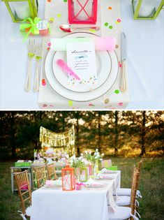"""""""He Makes My Heart Glow"""" Neon Bridal Shower - Hostess with the Mostess"""