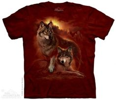 Wolf Sunset T-Shirt at theBIGzoo.com, a toy store featuring 3,000+ stuffed animals.