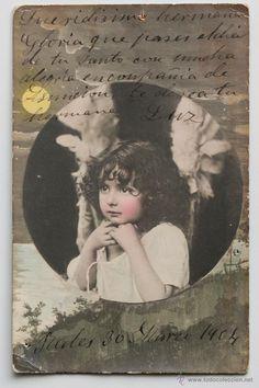 Postal coloreada. Circulada, 1904- El Desván de Bartleby C/.Niebla 37. Sevilla