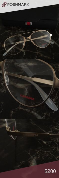 8e041fcdc218 Authentic Carrera Gold Frames With Lenses Authentic Carrera Gold Frames  With Clear Lenses.
