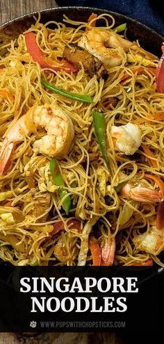 Asian Noodle Recipes, Asian Recipes, Oriental Recipes, Asian Noodles, Vermicelli Noodles, Curry Noodles, Seafood Recipes, Indian Food Recipes, Ethnic Recipes