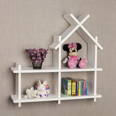Transcendent Dog House with Recycled Pallets Ideas. Adorable Dog House with Recycled Pallets Ideas. White Wall Shelves, Wall Mounted Shelves, Kids Wall Shelves, Wall Shelves Design, Recycled Pallets, Wooden Pallets, Wood Pallet Furniture, Kids Furniture, Furniture Projects