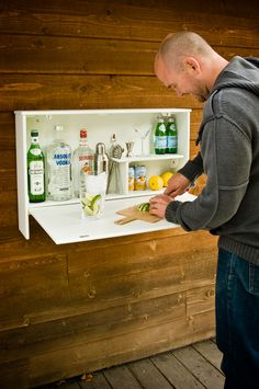 Liquor Cabniet/Bar. I think there's an IKEA thing I could use to make this.