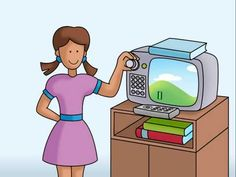"""""""Prende la televisión"""" - teach students verbs and vocabulary related to watching TV"""