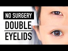 No Surgery Double Eyelid Tape Glue & Fibre Tutorial ♥ 3 Products B&A Monolid & Hooded Lid ♥ Wengie - YouTube
