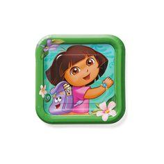 Dora the Explorer Square Disposable Plates - 8ct,