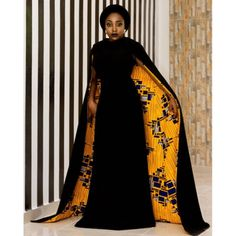 African Cape Dress | African Print Dresses | African Clothing Styles
