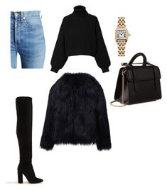 """Untitled #108"" by vocabularyfashion on Polyvore featuring RE/DONE, Diesel, Strathberry, ALDO, Cartier and WithChic"