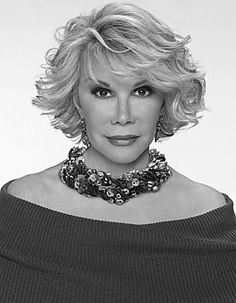 Joan Rivers.  Funny, smart and bold.  She allowed women to voice what they were thinking.  Thank you, Joan!