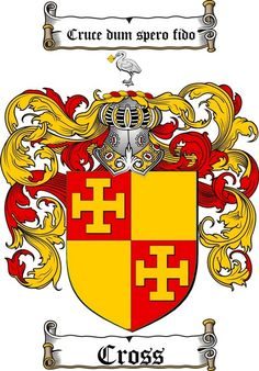 CROSS FAMILY CREST -  CROSS COAT OF ARMS