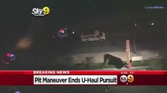 California High Speed Police Chase Stolen U-Haul Truck (KCAL)