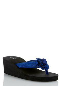 7d399139e Cato Fashions Flower Petal Wedge Flip Flops  CatoFashions  CatoSummerStyle Wedge  Flip Flops
