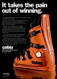 1974 Vintage Ski, Vintage Posters, Caber, Ski Equipment, Ski Gear, Alpine Skiing, Ski Chalet, Ski Boots, Ski And Snowboard