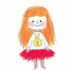 Cute Girl Illustration, People Illustration, Book Illustration, Watercolor Illustration, Drawing For Kids, Painting For Kids, Art For Kids, Cartoon Drawings, Cute Drawings
