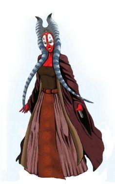 Shaak ti is a Togruta Jedi Master