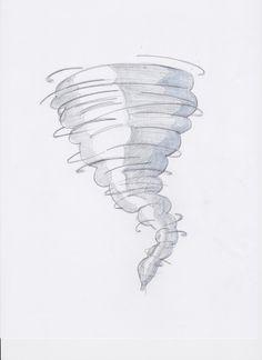 how to draw a tornado scene