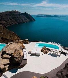 Aenaon Villas Santorini (@aenaonvillassantorini) • Instagram photos and videos Greece Wedding, Luxury Life, Best Hotels, Travel Destinations, Photos, Around The Worlds, Italy, Photo And Video, Inspiration