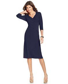 Elementz B-Slim Dress, Three-Quarter-Sleeve - Womens Dresses - Macy's