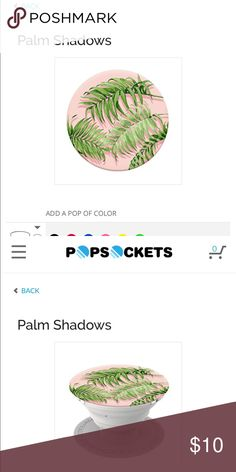 Palm Tree Pop Socket brand new Brand new never used, used urban outfitters for exposure but bought from pop sockets website Urban Outfitters Accessories
