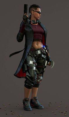 Fantastic Non-SR Shadowrunesque Art Thread — superheroesincolor: Blade's Daughter by...