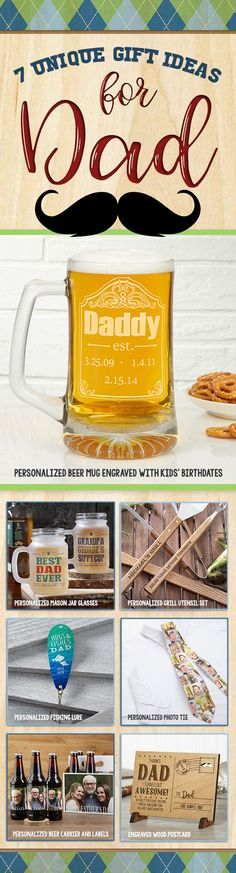 LOVE these Unique Father's Day Gift ideas! You can personalize them with any message - great gifts for dads and grandpas!