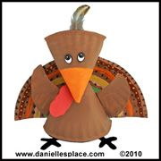 Turkey Craft - Turkey Paper Plate Craft from .daniellesplace.com  sc 1 st  Pinterest & Paper Plate Turkey Craft | Turkey craft Leaves and Craft