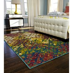 Skye Monet Multi Rug (7'7 x 10'5) | Overstock.com - possibly for the dining room?