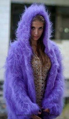 Mohair Cardigan, Angora Sweater, Gros Pull Mohair, Baby Pullover, Pulls, Mantel, Fur Coat, Lingerie, Knitting