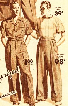 1940 S Fashion | Mens 1940's Sport Coats and Pants History - 1940's Fashion