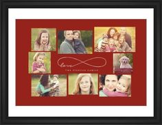 Love Infinity Framed Print, Black, Classic, Black, White, Single piece, 24 x 36 inches, Red