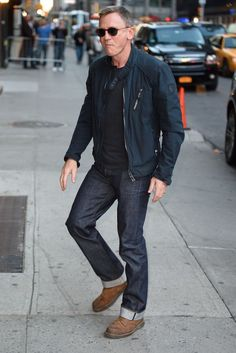 Daniel Craig arrives at the Late Show with Stephen Colbert in NYC.