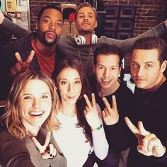 The unit is back for an important selfie! Love Ruzek's pose!