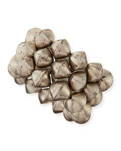 NEST Jewelry African Silver Bead Stretch Bracelets, Set of 3