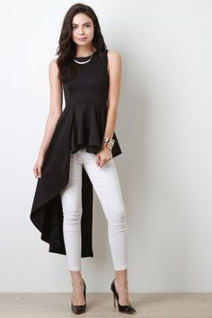 Asymmetrical Peplum Top