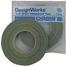 "Making a fresh arrangement? This is the tape you need to hold the oasis in the container. Make sure what you buy says it is waterproof. Oasis 1/2""x60yd Green Waterproof Tape"