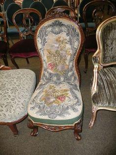Royal Furniture, Pray, Needlepoint, Nursing, Needlework, Stitching,  Victorian, Chairs, Embroidery