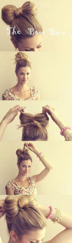 8 DIY Bow Hairstyle Tutorials @Hollie Baker Kaitoula Tou Rodolfou Maslarova