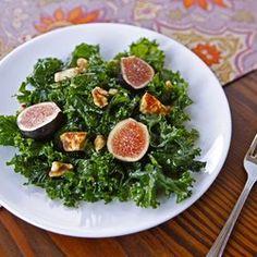 Kale, Fig and Halloumi Salad