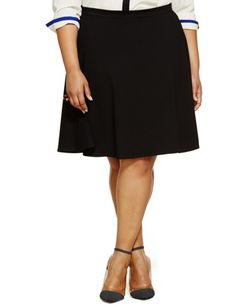 Ponte Circle Skirt from eloquii.com $48