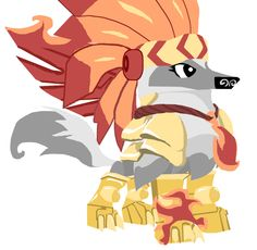 My animal jam (when I was a member) arctic wolf outfit. I really like this art work