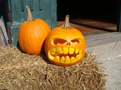 jack-o-latern - scary face, my favorite style of pumpkin