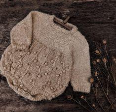 Knitting romper pattern Bird Cherry Romper for   Etsy Knitting Terms, Knitting For Kids, Baby Knitting Patterns, Knitting Projects, Knitted Baby Clothes, Knitted Romper, Baby Knits, Knitted Baby Outfits, Swatch