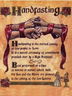 It will be a Handfasting ceremony