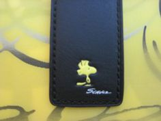 NEW Coach X Peanuts Snoopy BLACK Leather Woodstock Bookmark 2014 Limited Edition #Coach