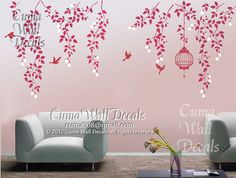 branch wall decal nursery wall decals vinyl vine wall por cuma