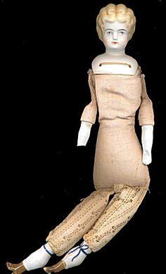 Early 1900s German Gok Doll W Cloth Body