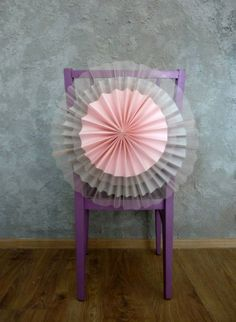 paper and tulle rosette